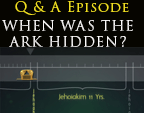 When was the Ark hidden or removed from the temple?
